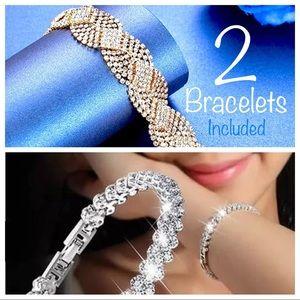 2 Dazzling Bracelets NWT